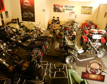 Trike Guy Showroom Based in Ashton Under Lyne in Greater Manchester we specialise in buying and selling pre-owned trikes, choppers and custom cycles